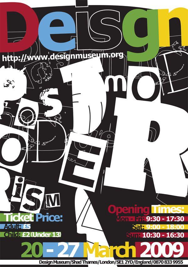 Post Modern Graphic Design Postmodernism Poster Design Modern Poster