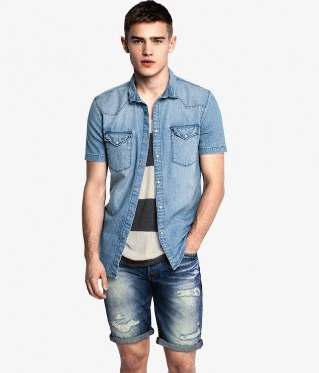 ZARA - MAN - DENIM BERMUDA SHORTS | MEN'S FASHION | Pinterest