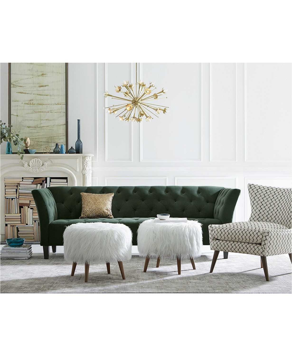Arielle Tufted Fabric Apartment Sofa Only At Macy S Macys Com