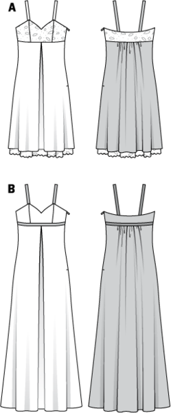 Kleid empire schnitt