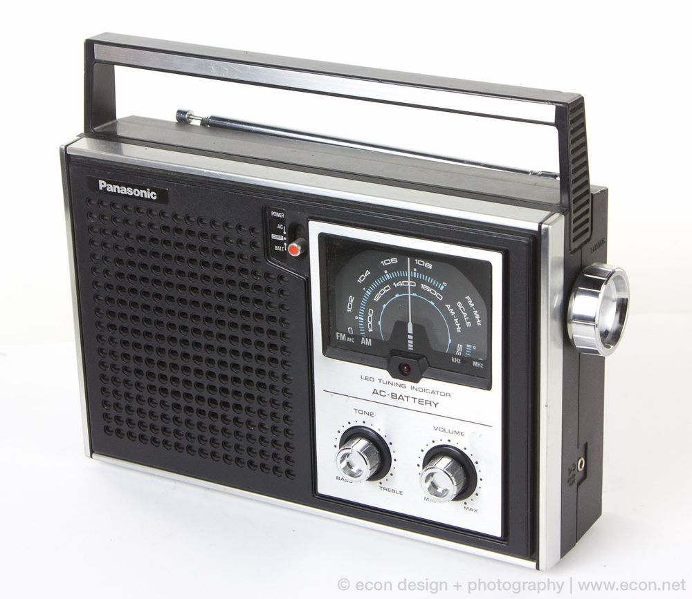 Near Mint 70 S 80 S Vintage Panasonic Rf 596 Black Silver Am Fm Transistor Radio Transistor Radio Antique Radio Vintage Radio