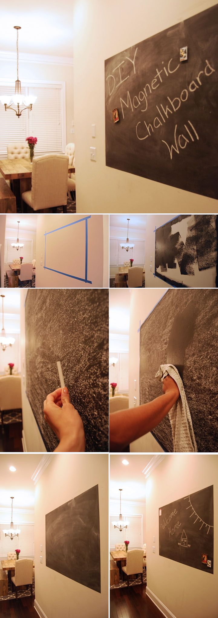 DIY Magnetic Chalkboard Wall | The Home Depot Community ...