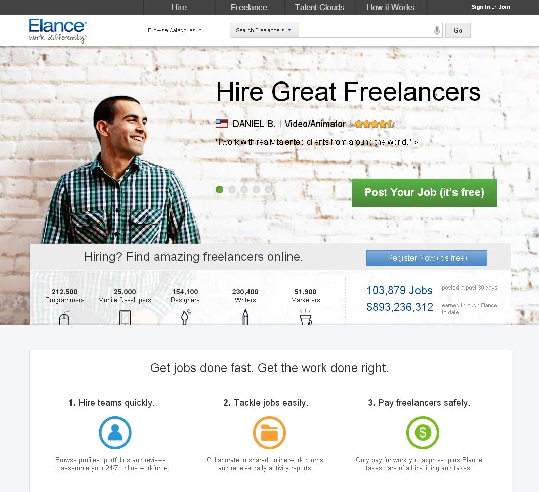 Hire freelancers and find freelance jobs instantly  Elance  Hire freelancers, Website, Online