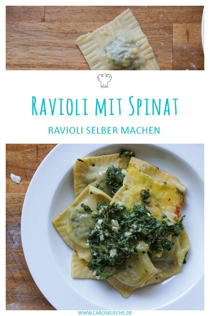 Ravioli mit Spinat » Leckere Ravioli selber machen, so geht's! Nudelteig selber machen statt Ravioli aus der Dose!
