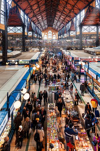 Budapest - The Great Market Hall or Central Market Hall in the 9th district, is the largest indoor market in Budapest. It was designed and built by Samu Pecz around 1896. The market offers a huge variety of stalls on three floors. A distinctive architectural feature is the roof which was restored to have colorful Zsolnay tiling