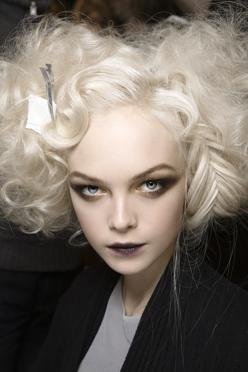 Siri Tollerod Backstage at Dior Fall 2010.