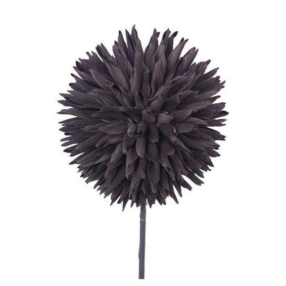 Kugeldistel aus Kunststoff in Schwarz - für individuelle Dekorationen