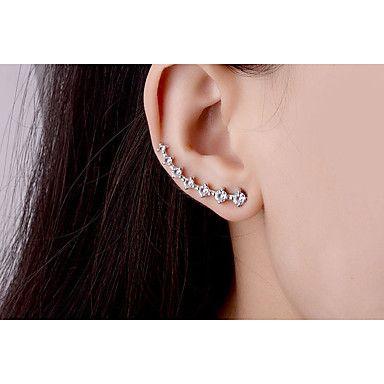 Délicat argent cœur rouge forme Boucle d/'oreille Clous d/'oreilles accessoires
