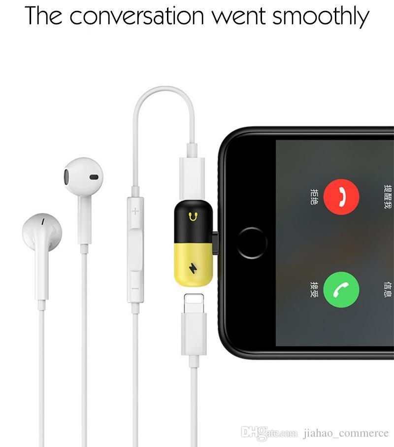 كونفيرت سوكت الشاحن للآيفون لتشغيل السماعة والشاحن معا Cell Accessories Headphone Earphone