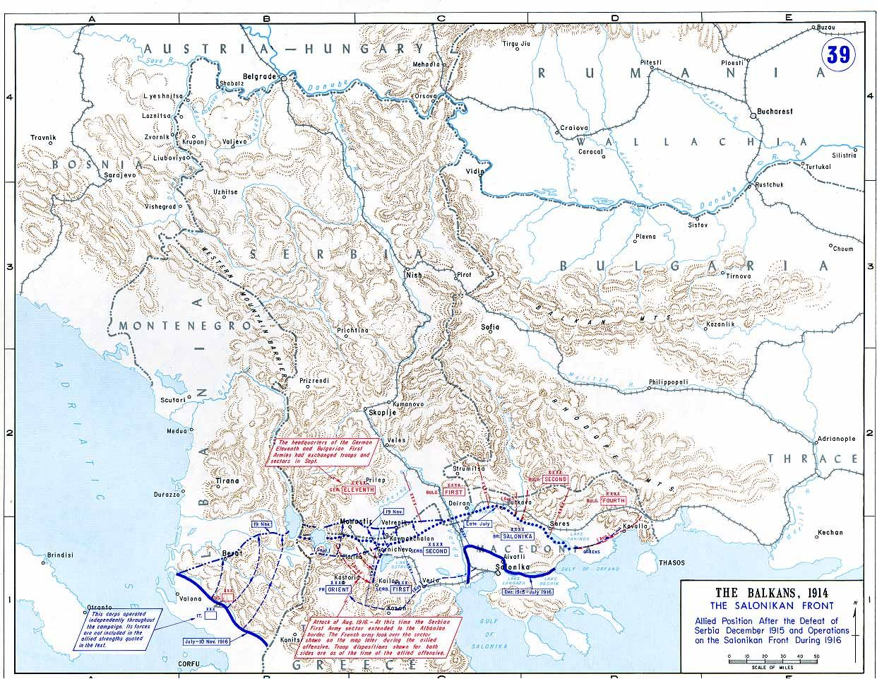 Balkan Salonikan front after the defeat of Serbia 1915 and