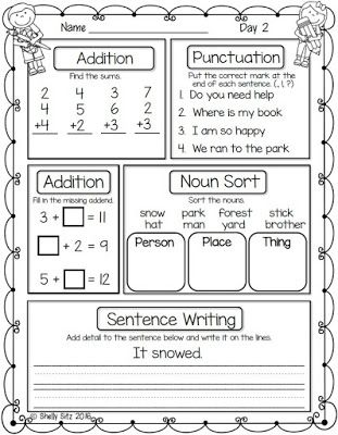Worksheets Daily Morning Work 1st Grade first grade morning work school pinterest mornings work