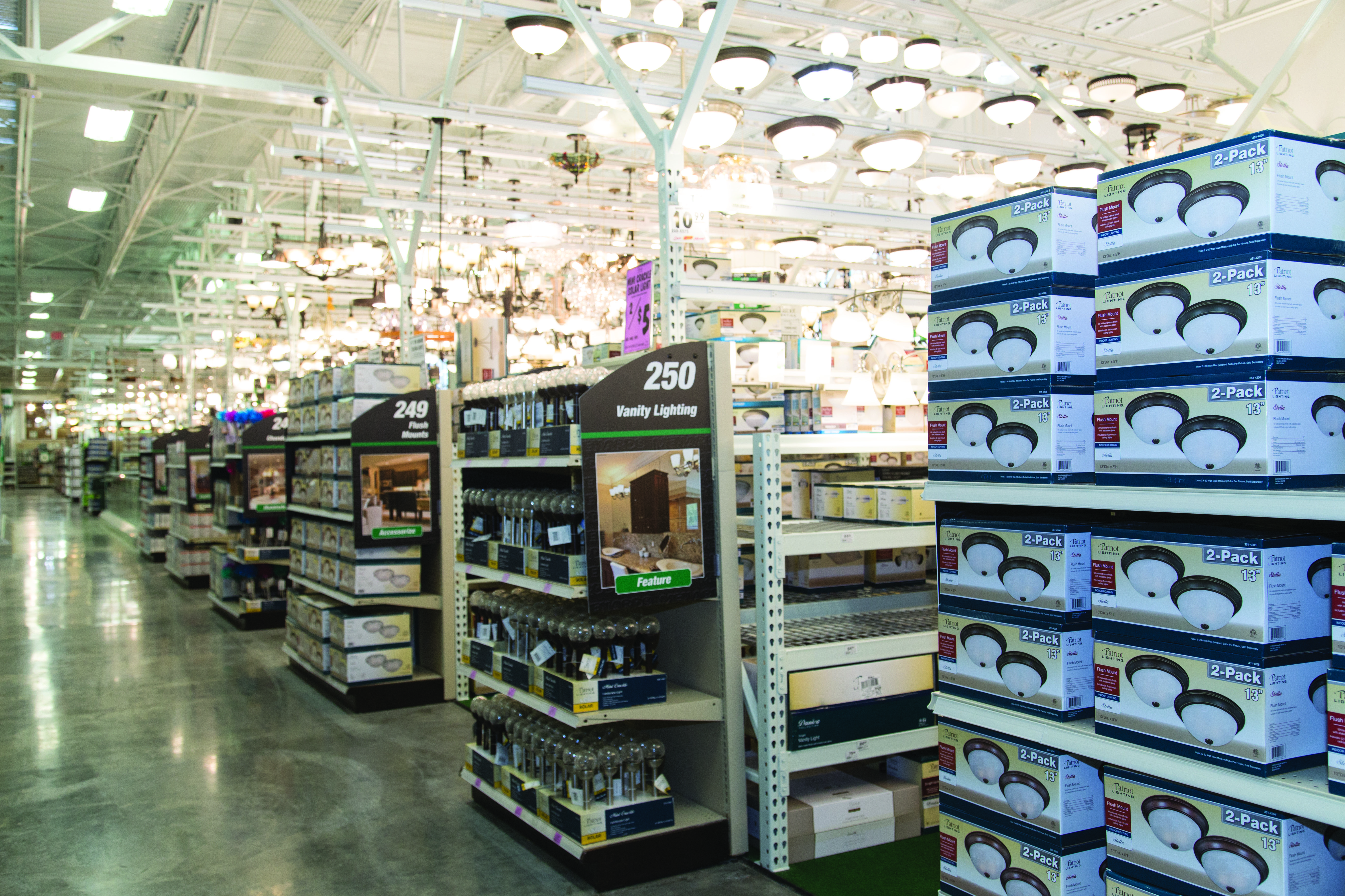 The Lighting Display And Electrical Selection At Your Local