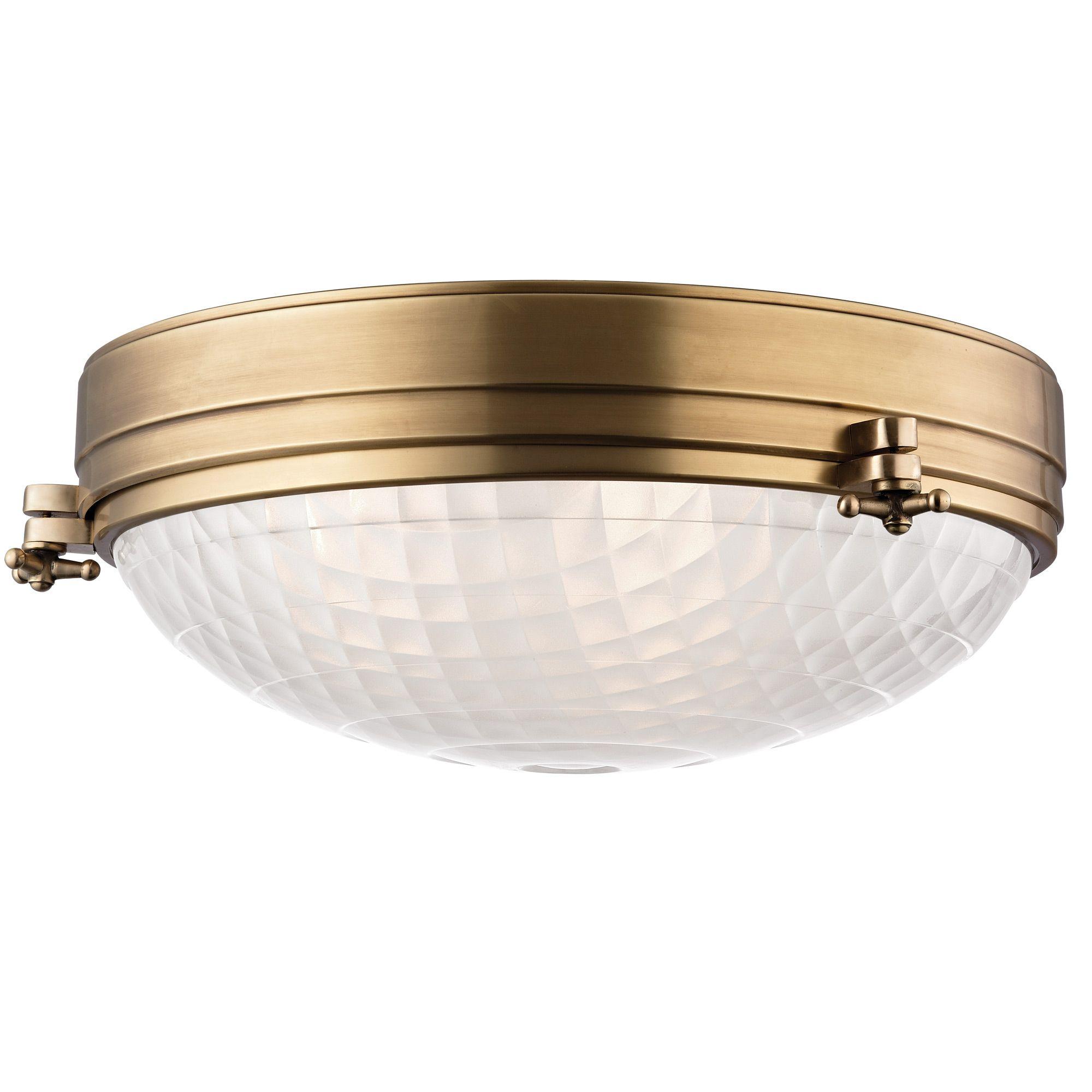 Belmont flush mount hudson valley lighting at lightology for the