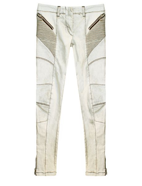 Pierre Balmain Contrast Dirty White Jeans | Denim interpretations ...