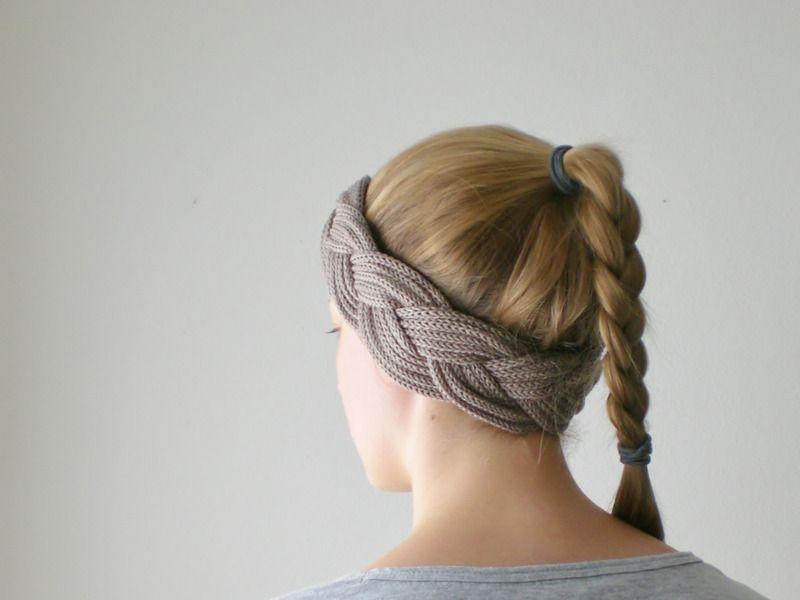 Strickliesel stirnband taupe von lieselotta strickliesel schmuck auf - Strickliesel ideen ...