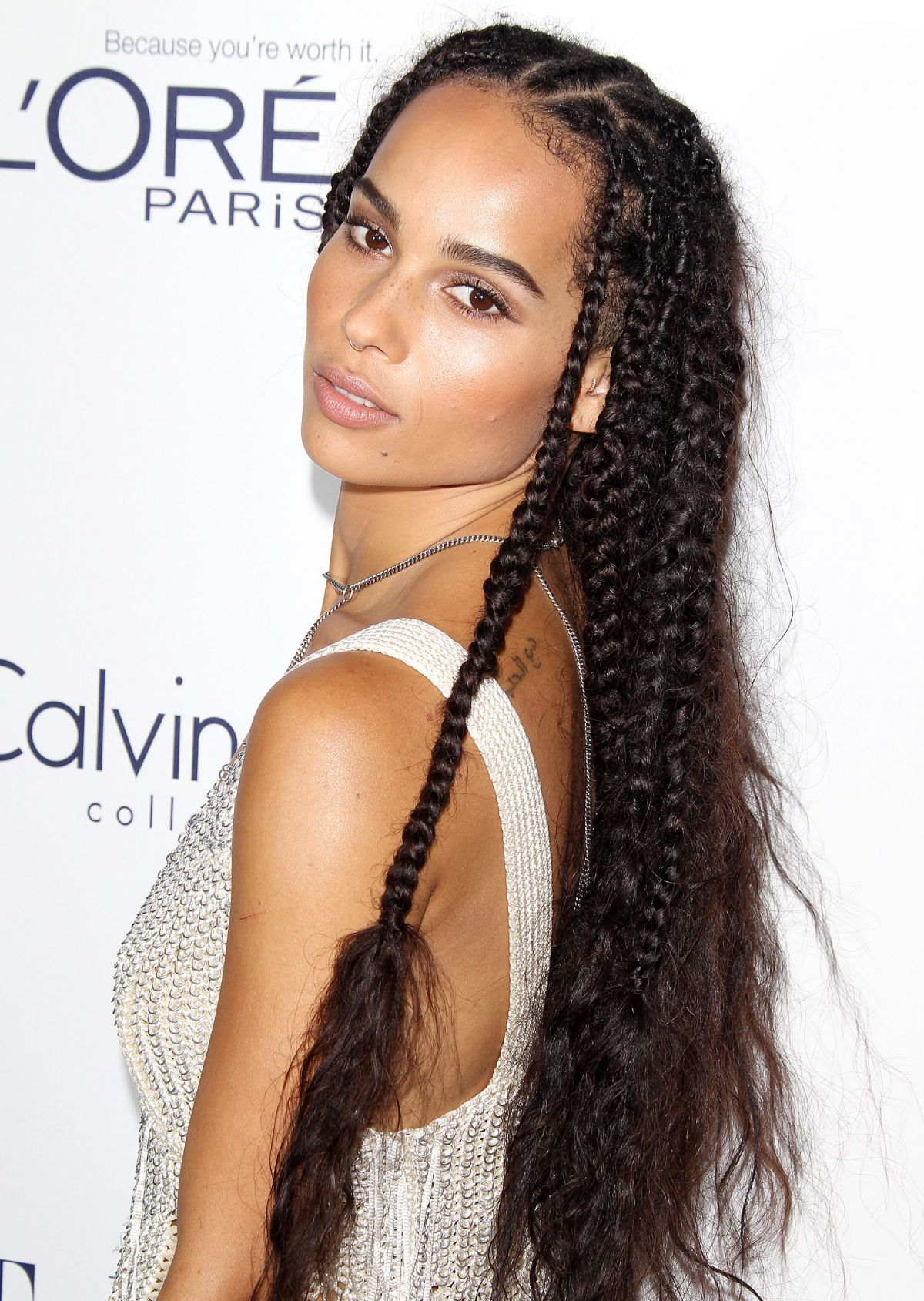 Coiffure Zoe Kravitz Zoe Kravitz With Braids At The Elle Women In Hollywood