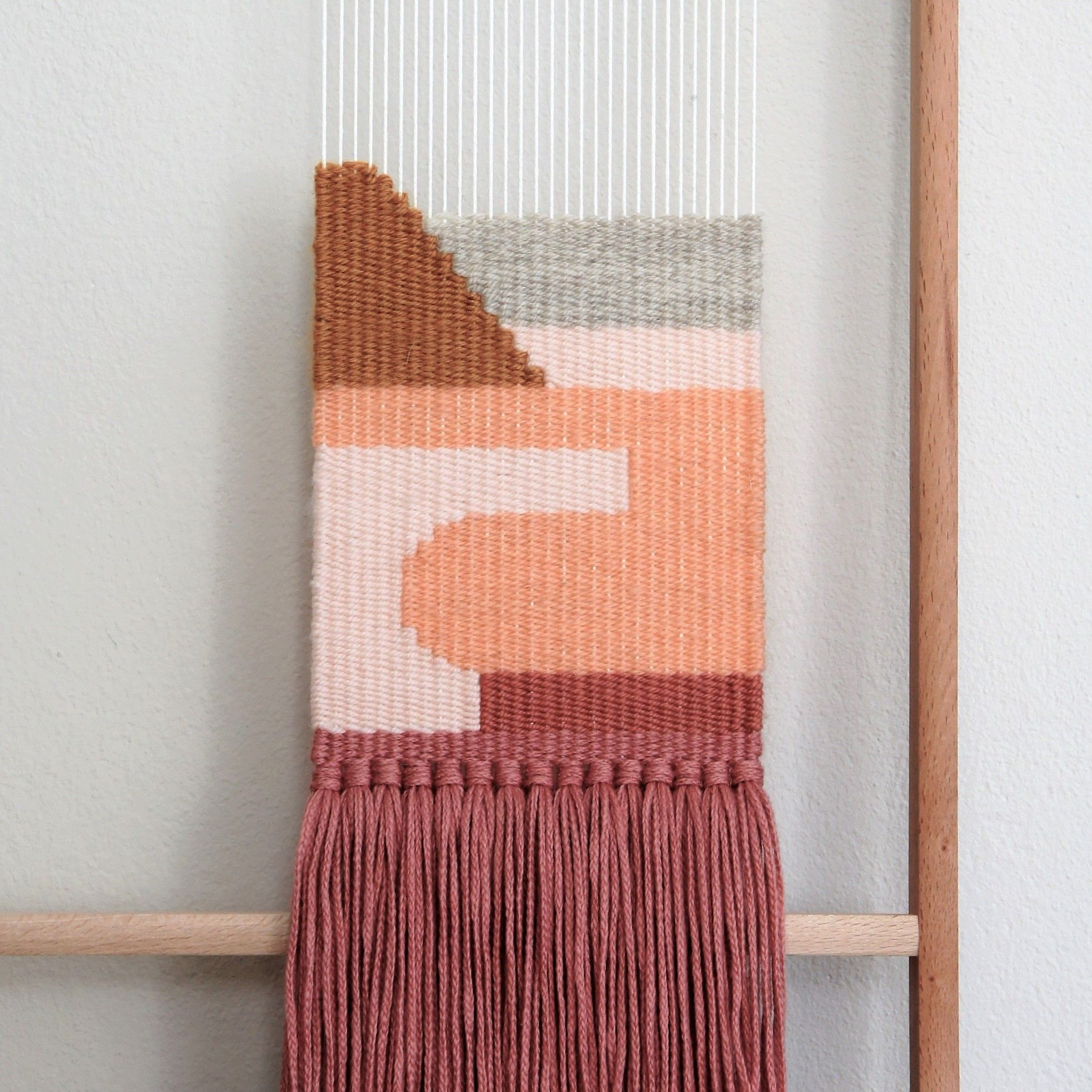 Wandteppich Modern Amy Handwoven Wall Hanging By Wednesdayweaving Amy Handgewebter