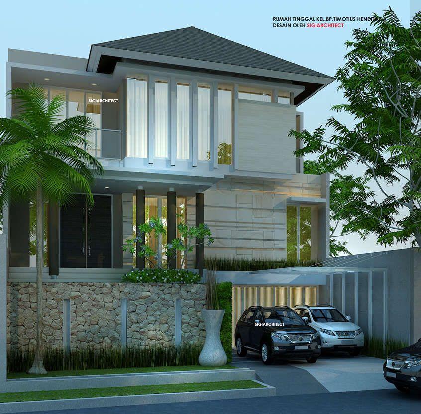 desain rumah tropis minimalis 2 lantai