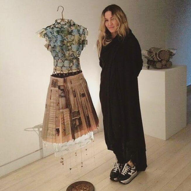 Madonna visitou a exposição de arte da sua irmã Melanie Ciccone, em NY no fim de semana!