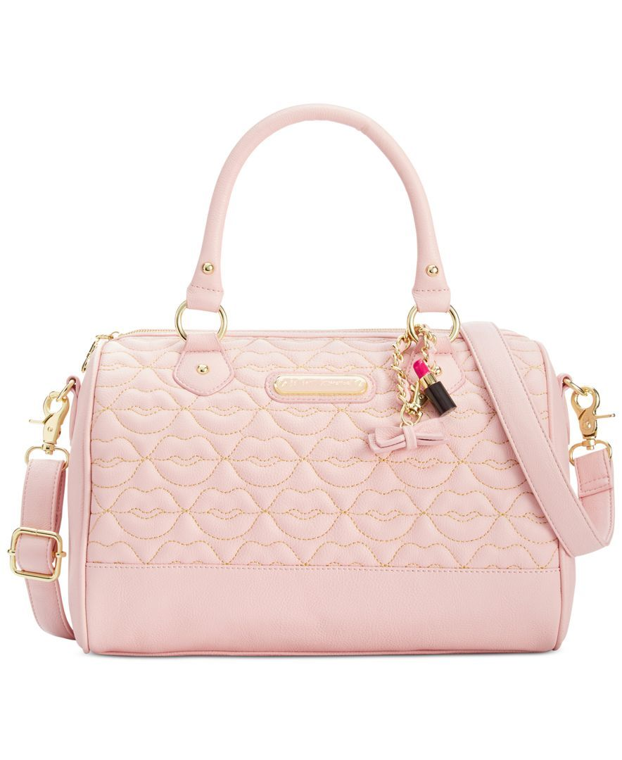 a62b90331b Betsey Johnson Blush Quilted Lips Satchel