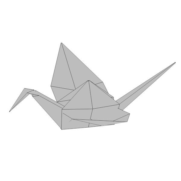 paper cat whale 3d 3ds | Models Wireframes | Origami animals, Cats