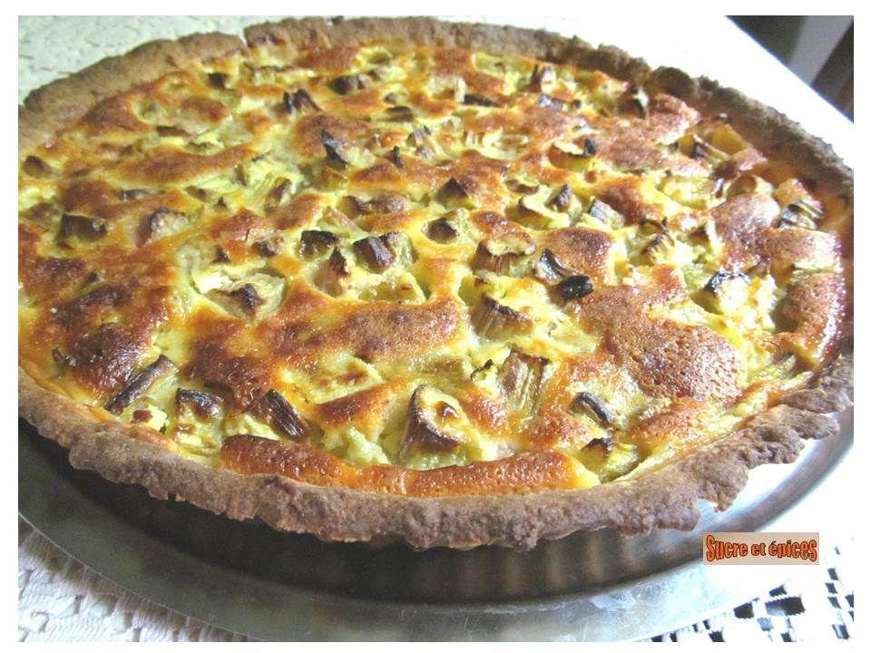 Rhubarb and fresh cream pie – sucreetepices.over-blog.com