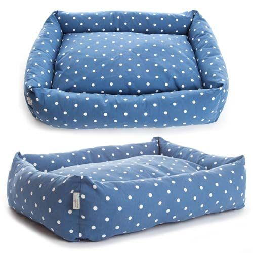 Deluxe Dotty Bolster Dog Bed Dog bed, Bolster dog bed
