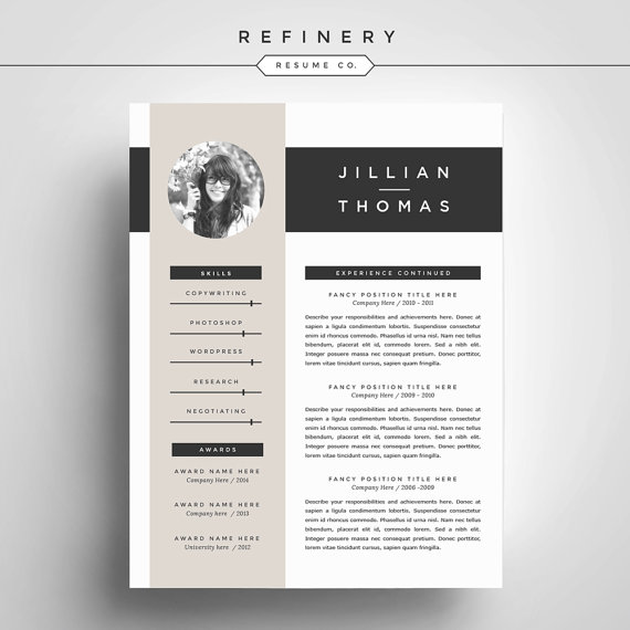 Creative Resume Template And Cover Letter By Refineryresumeco  Cv