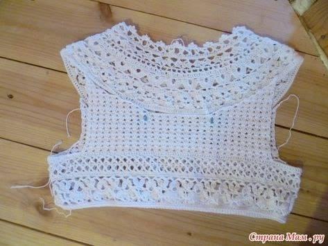 Vestidos para Bebés y Nenas con Canesú en Crochet y Tela | Otakulandia.es #vestidosparabebédeganchillo