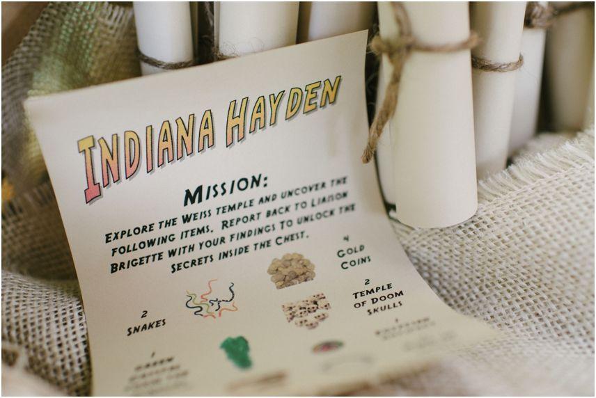 Indiana Jones themed Birthday Party Rustic White
