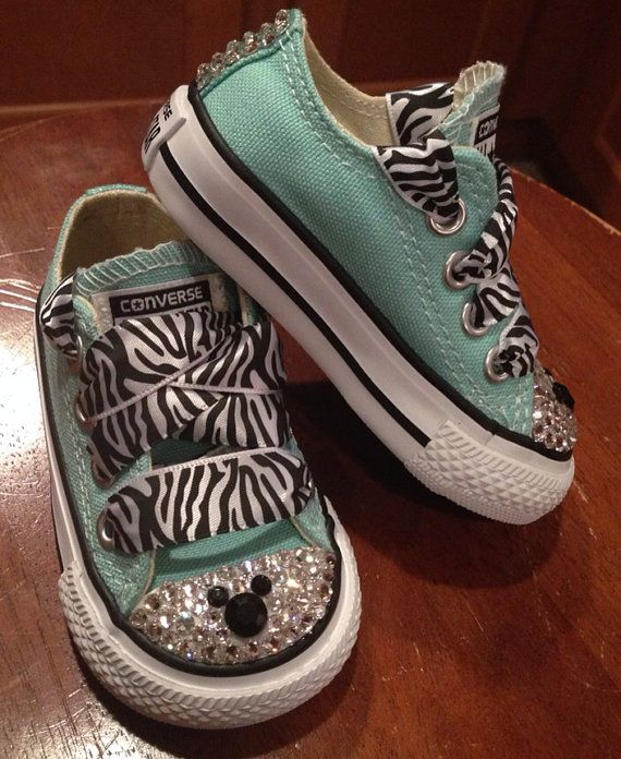 4bd81898df85f5 Mint Disney Mickey Mouse Bling Converse by Munchkenzz on Etsy