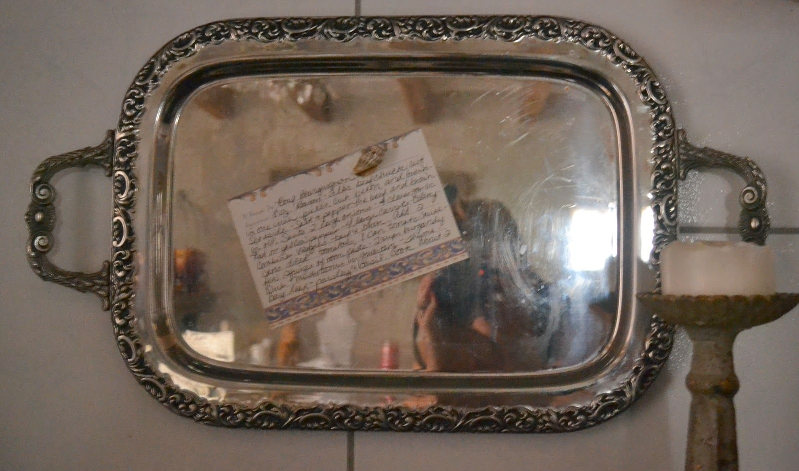 old tray behind stove to magnet recipes to...the poor sophisticate: Barn Kitchen Reveal!