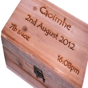 Details About Personalised Wooden Keepsake Box Jewellery Box Trinket