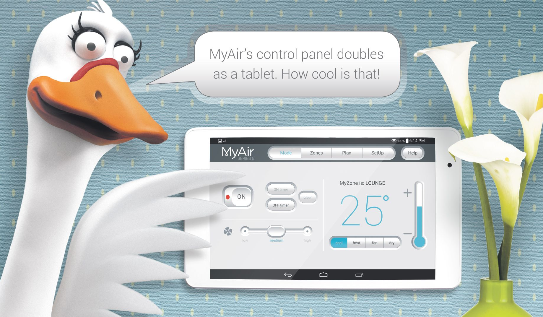 With a My air 5 Zoning system, you will be able to control