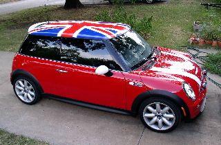 British Flag Mini Cooper My Favorite Car Ever