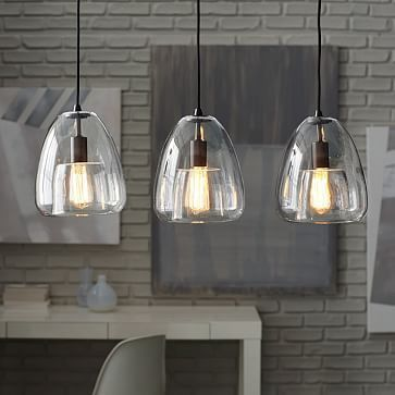 over the kitchen island - Duo Walled Pendant - 3-Light #westelm ...