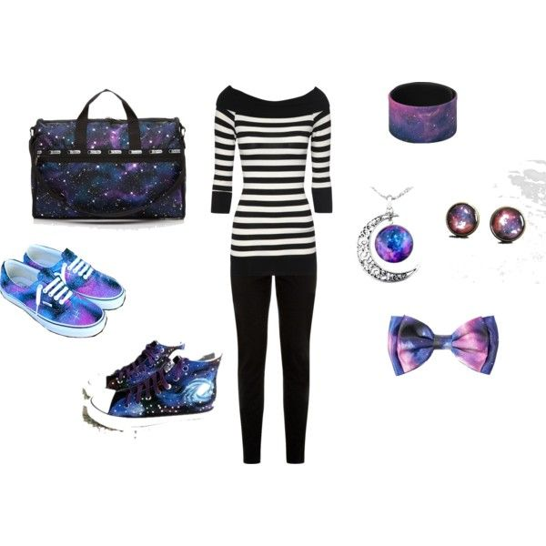 Classy Galaxy Girl by reshelle-denae-tusing on Polyvore featuring Jane Norman, Vans, HVBAO and LeSportsac