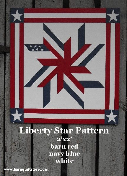 Barn Quilt Patterns Liberty Star Pattern Barn Quilts