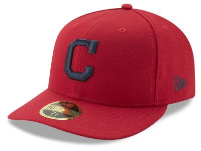 aa7683c274735c Cleveland Indians New Era MLB Low Profile AC Performance 59FIFTY Cap ...