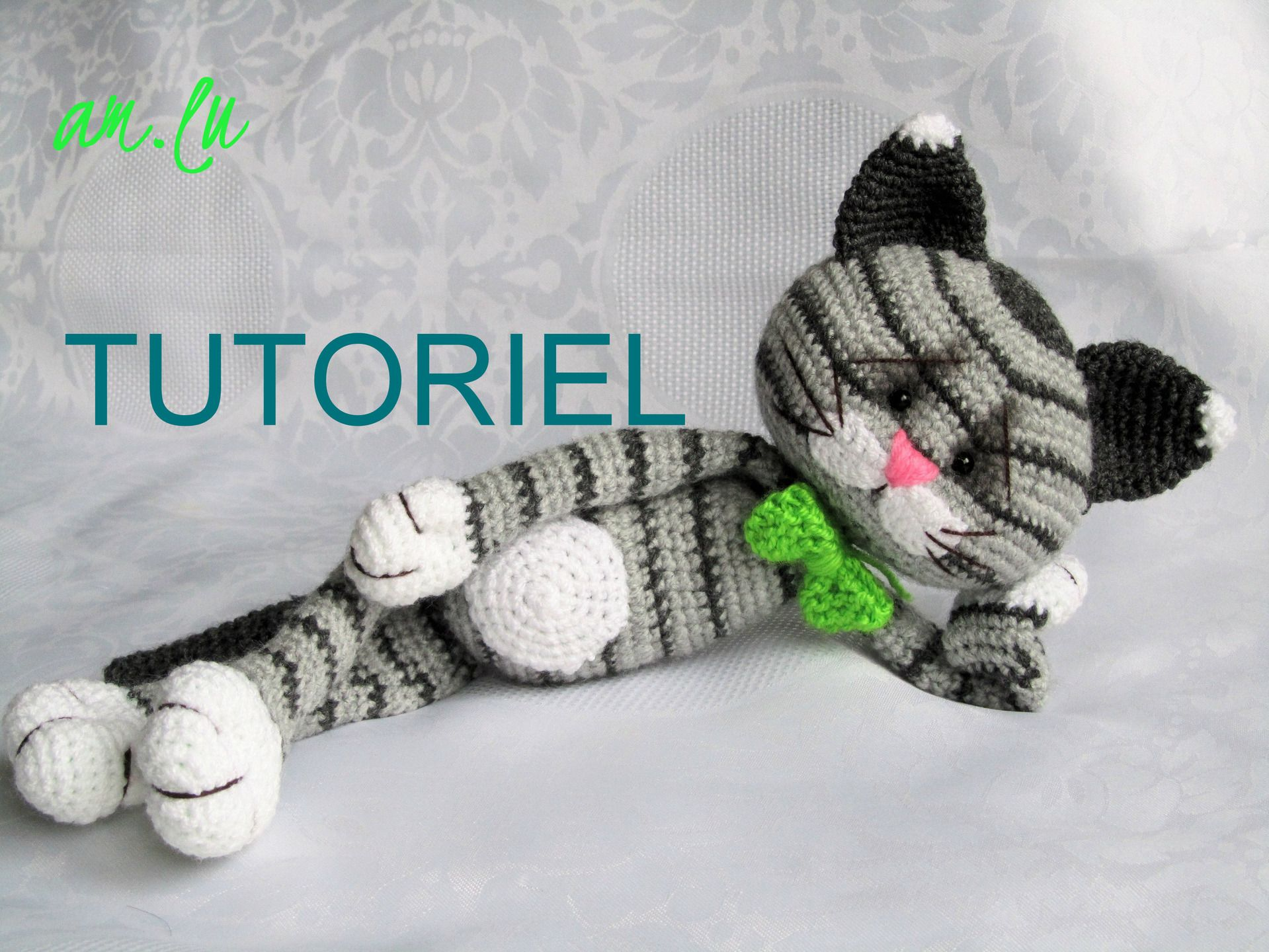jouet chat tricot