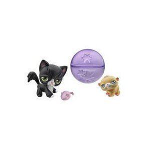 Littlest Pet Shop Hamster Longhair Cat With A Cute Rolling Hamster Ball Littlest Pet Shop Pet Shop Pets