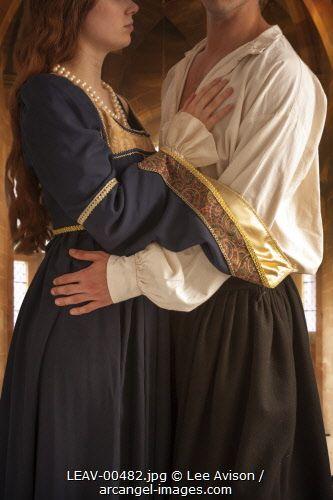 medieval couple embracing Photographer: Lee Avison