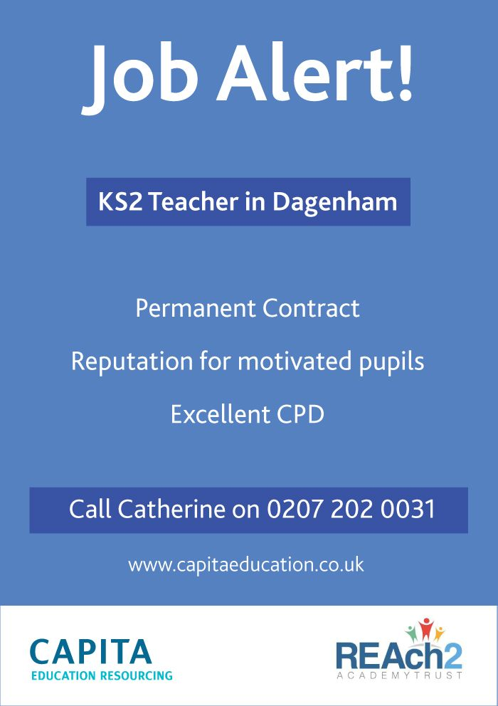 Reach2 Academy Trust >> Ks2 Teacher In Dagenham For Reach2 Academy Trust Email Us On