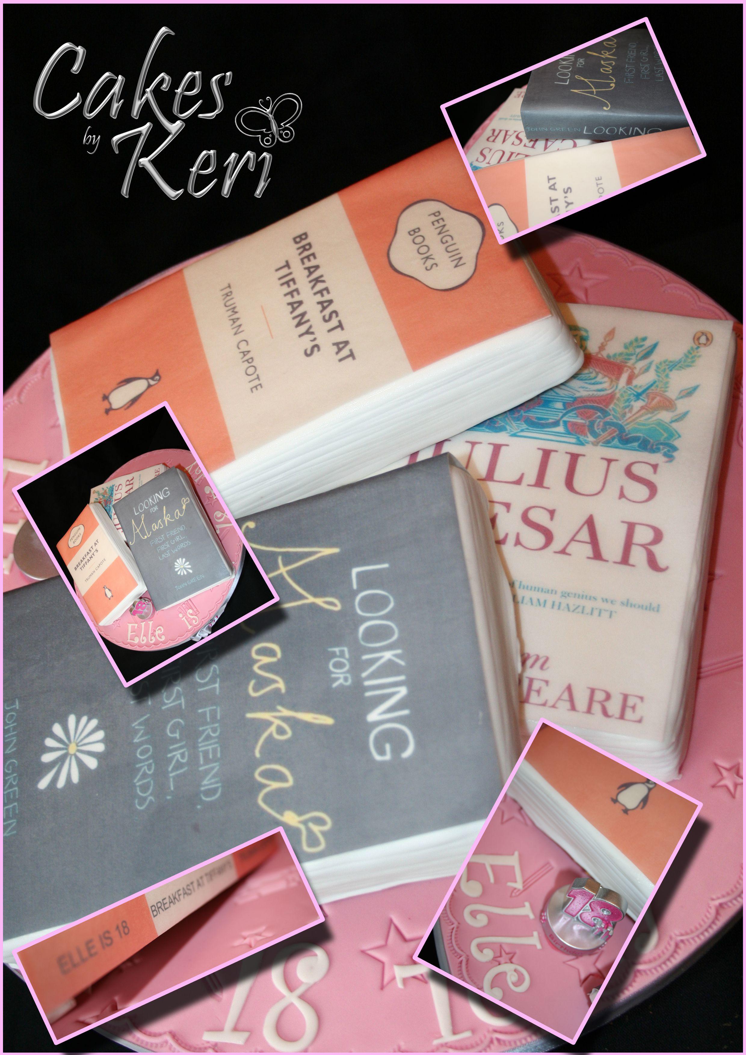 Vanilla Sponge, Fondant icing with edible book covers