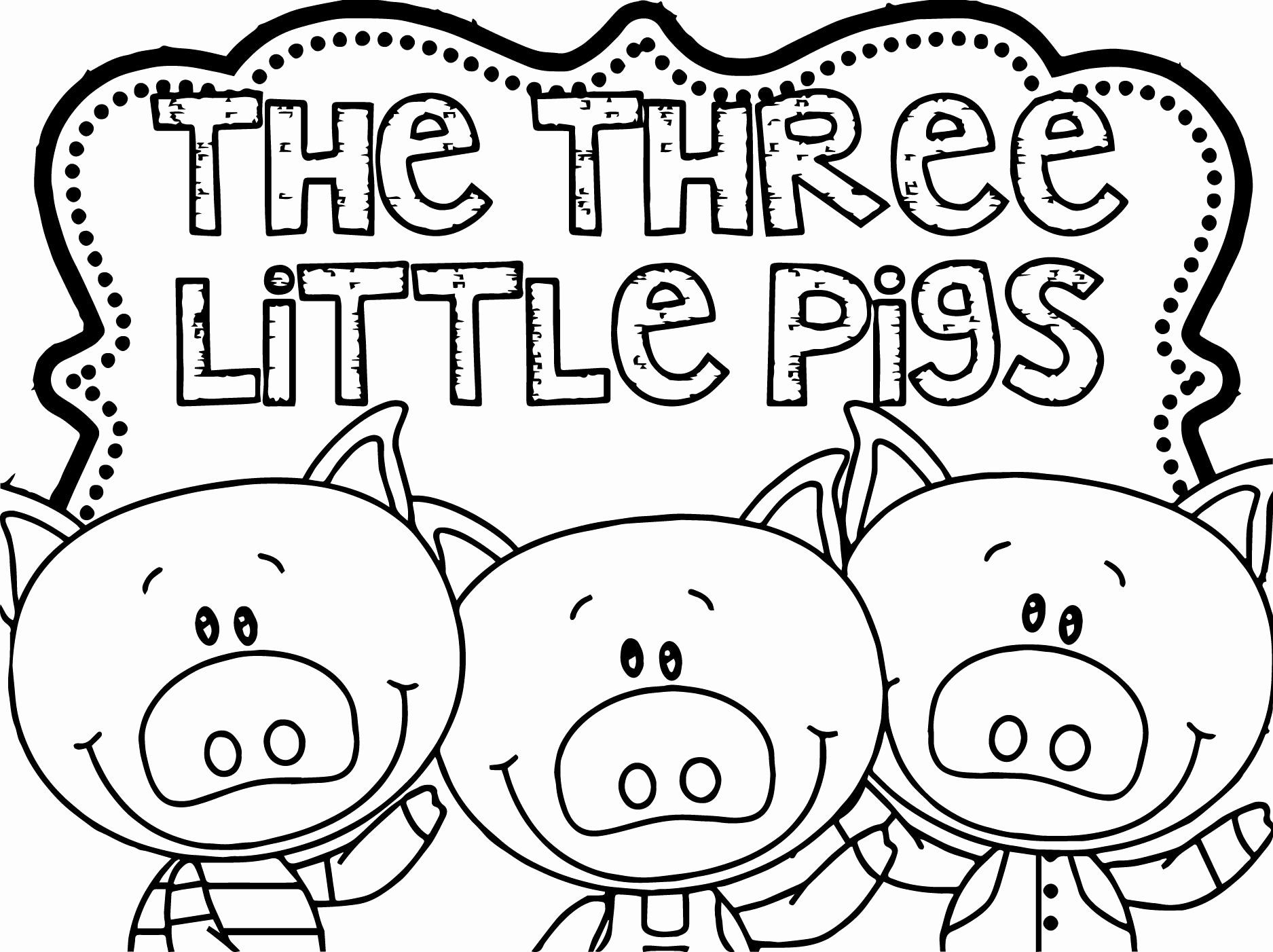 32 Three Little Pigs Coloring Page In