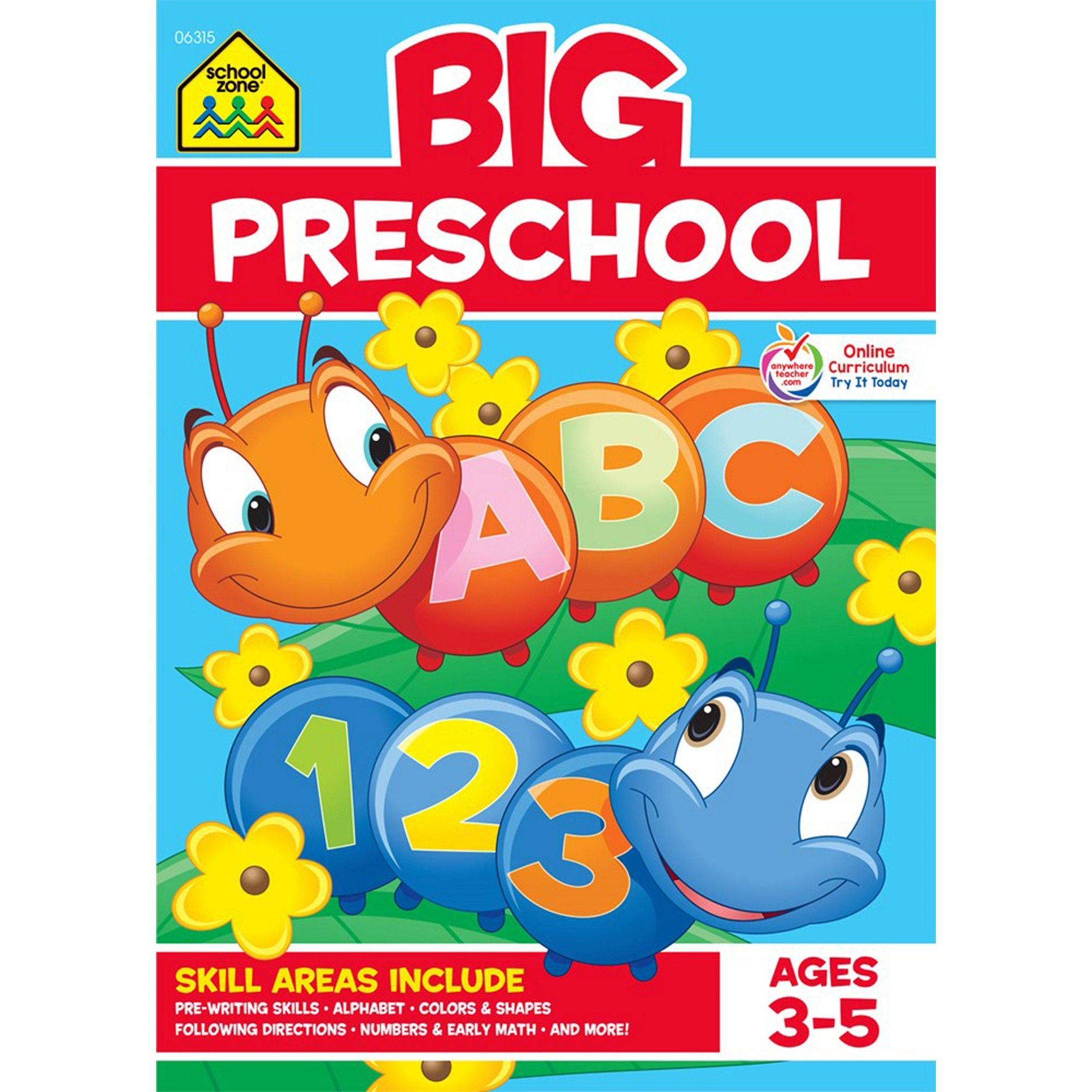 Big Preschool Workbook Ages 3 5 School Zone Publishing Paperback Preschool Workbooks Preschool Pre Writing [ 2000 x 2000 Pixel ]