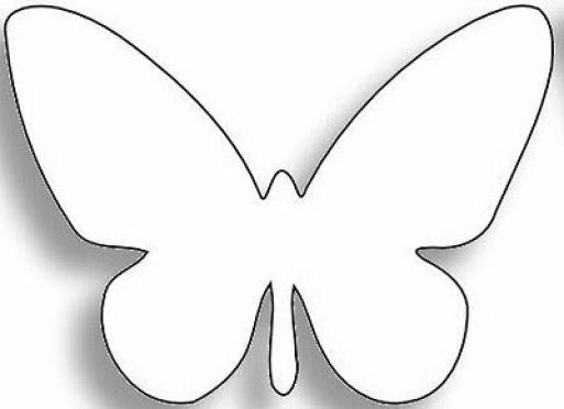 Silueta mariposa para recortar   Imagui | Manualidades