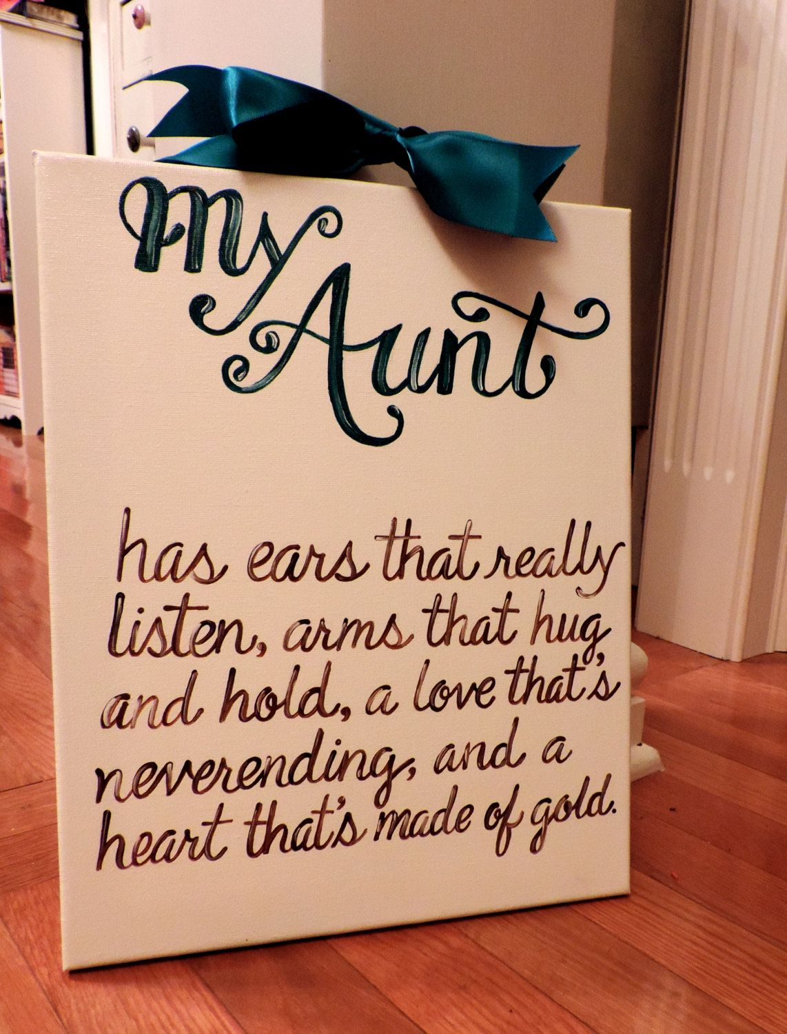 Mother\'s Day Aunt GIft Quote Custom Canvas by ...
