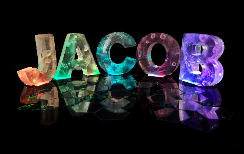 The Name Jacob in 3D coloured lights...and MY name is Jacob! What a coincidence
