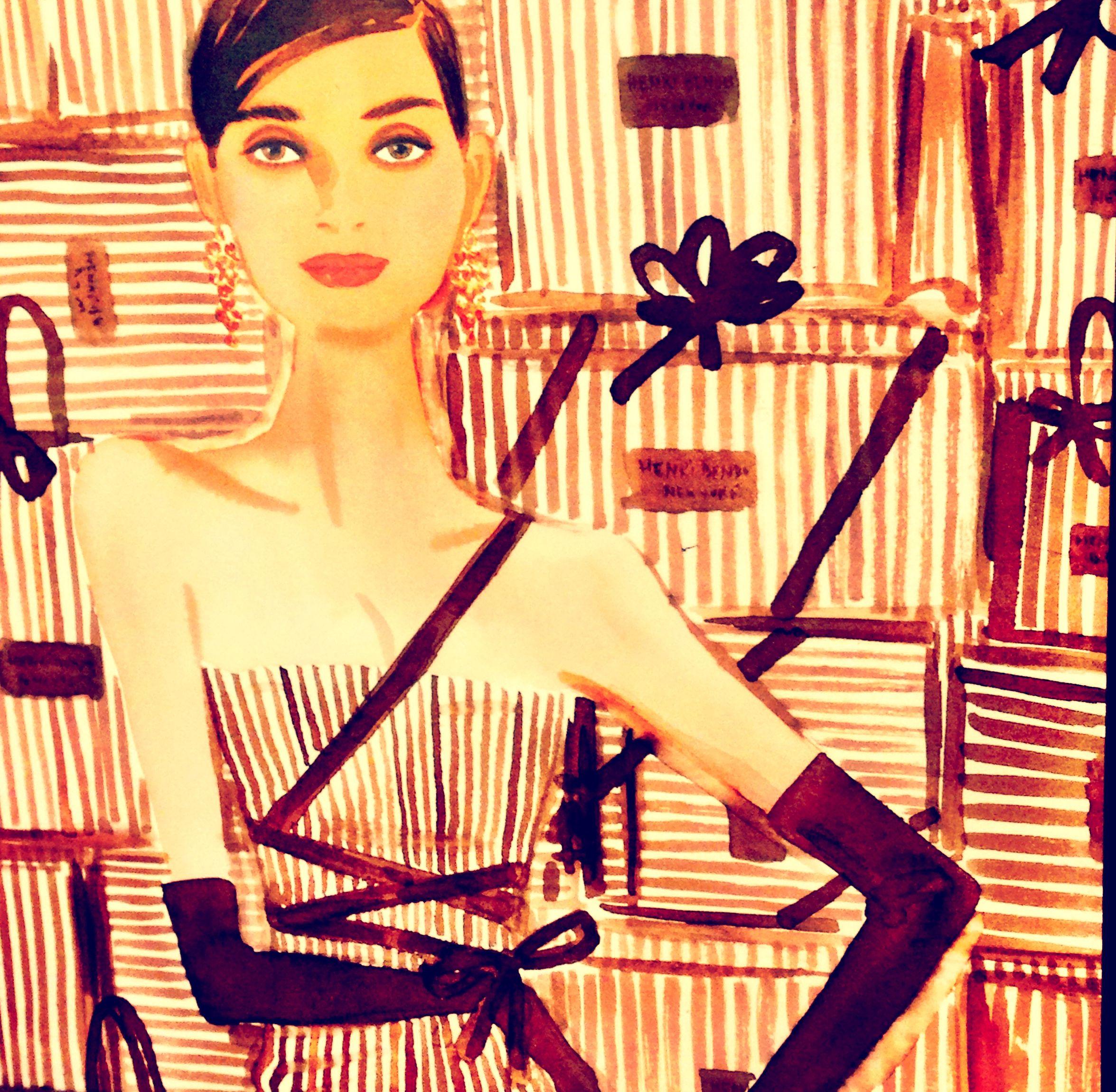 ❤️❤️Henri Bendel #HB Henri Bendel #henribendel #illustrations #wendyheston likes #shopbendel #charmiesbywendy loves #henribendelilustrations